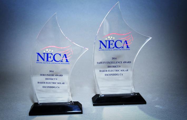 NECA award solar energy
