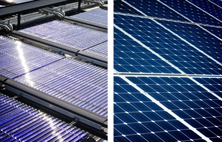 solar thermal and solar electric