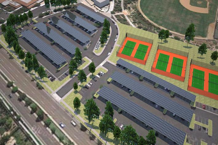 Cathedral Catholic High School solar carports