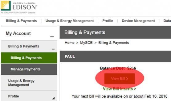 SCE green button image