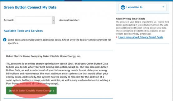 SDGE green button image