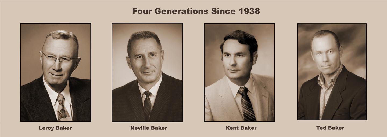 4 Generations of Baker Family