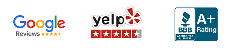 Google Yelp and BBB Accredited Installer