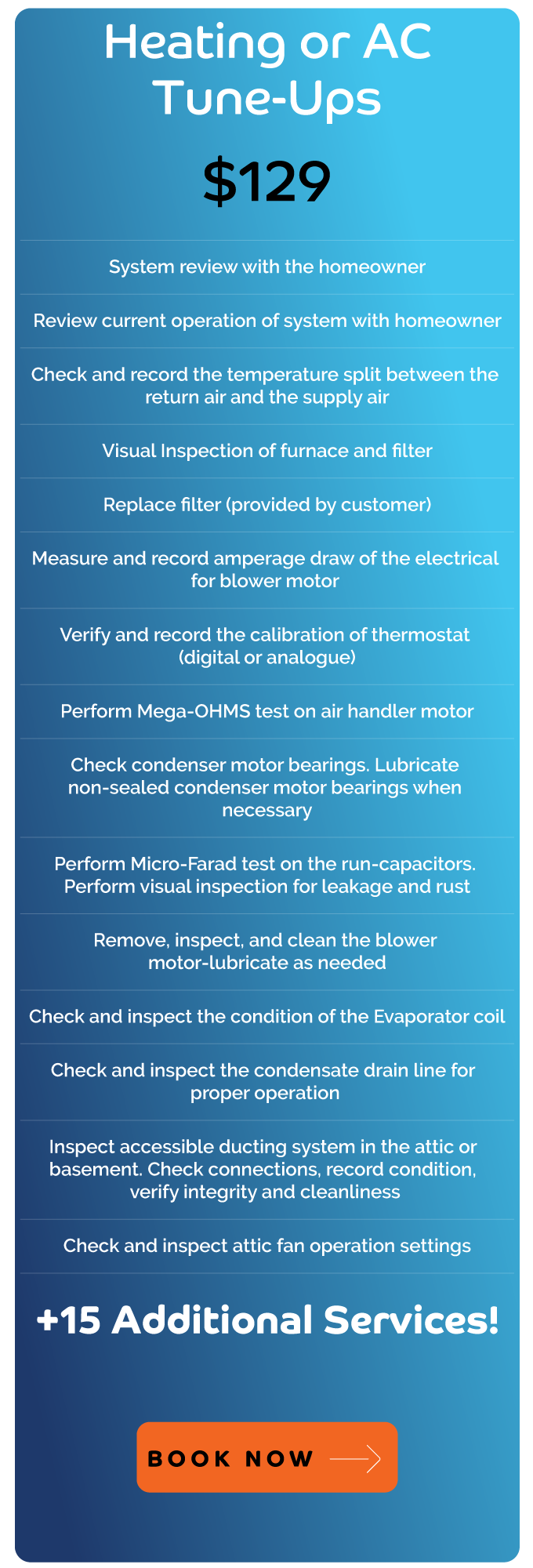 Heating and Air Conditioning Tune-ups