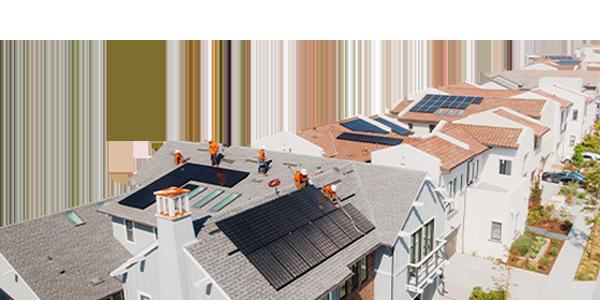 neighborhood solar installation