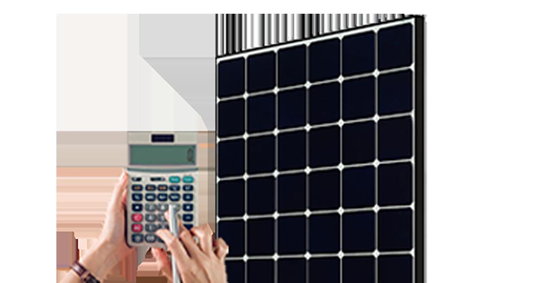 Calculator and solar panel