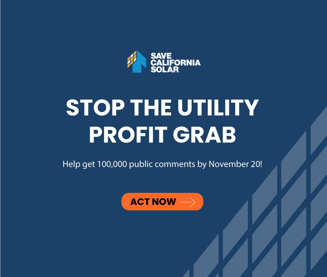 Stop the utility profit grab
