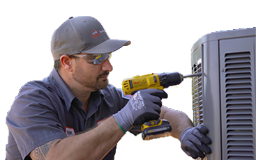 hvac service technician condenser